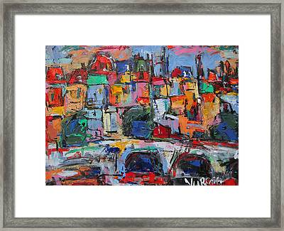 Paris In Colors Framed Print by Len Yurovsky