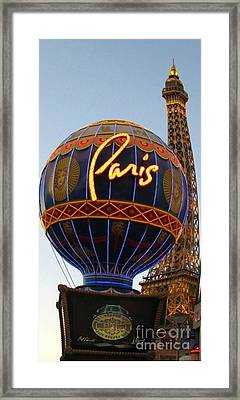 Paris In Vegas Framed Print by John Malone