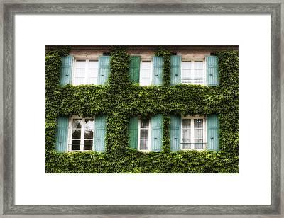 Paris Ivy Covered Windows Framed Print by Georgia Fowler