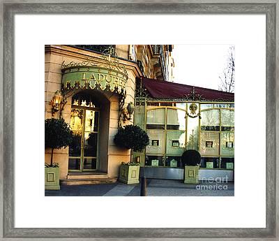 Paris Laduree Macaron French Bakery Patisserie Tea Shop - Champs Elysees - The Laduree Patisserie Framed Print by Kathy Fornal