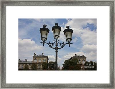 Paris Lamp Post Framed Print by Carol Groenen
