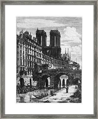 Paris Le Petit Pont Framed Print by Granger