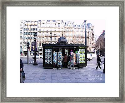 Paris Magazine Kiosk Framed Print by Thomas Marchessault