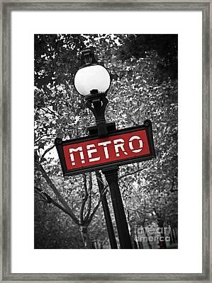 Paris Metro Framed Print by Elena Elisseeva