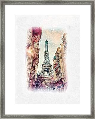 Paris Mon Amour Framed Print by Mo T