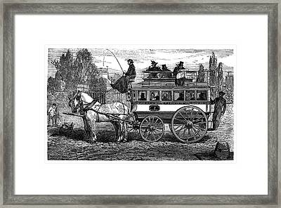 Paris Omnibus Framed Print by Science Photo Library
