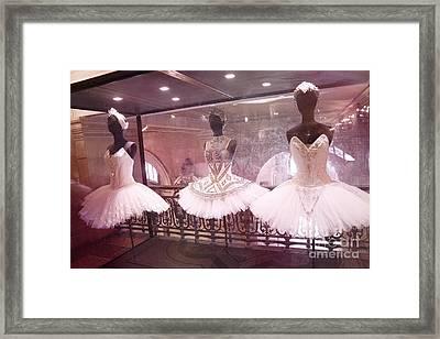 Paris Opera Ballerina Costumes - Paris Opera Garnier Ballet Tutu Costumes At Opera House Framed Print by Kathy Fornal