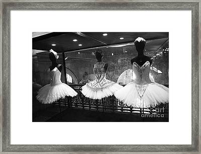 Paris Opera Garnier Ballerina Costume Tutu - Paris Black And White Ballerina Photography Framed Print by Kathy Fornal