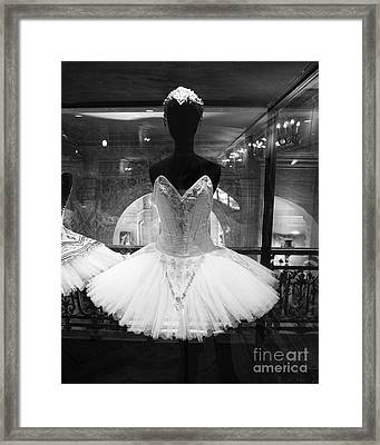 Paris Opera Garnier Ballerina Costume Tutu - Paris Black And White Ballerina Photography Framed Print by Kathy Fornal