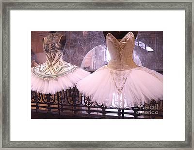 Paris Opera Garnier Ballerina Dresses - Paris Ballet Opera Tutu Costumes - Paris Opera Des Garnier  Framed Print by Kathy Fornal