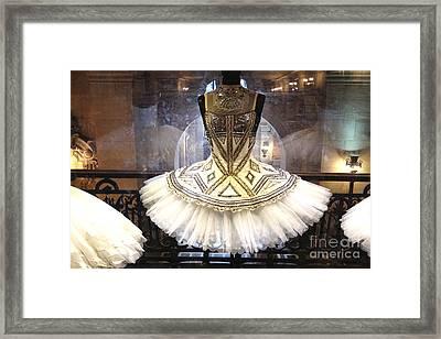 Paris Opera House Ballerina Costume Tutu - Paris Opera Des Garnier Ballerina Tutu Dresses Framed Print by Kathy Fornal