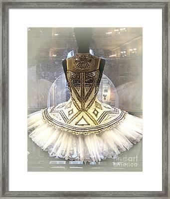 Paris Opera House Ballerina Tutu Costume - Opera Des Garnier Ballerina Costume Framed Print by Kathy Fornal
