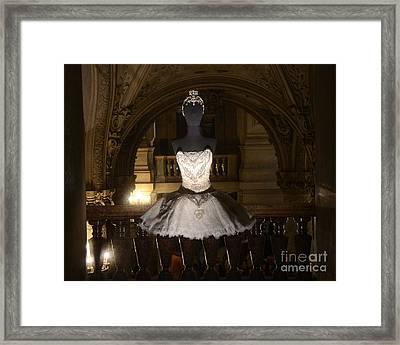 Paris Opera House Ballet - Opera Garnier Ballet Costume - Paris Ballet Tutu - Paris Ballerina Art Framed Print by Kathy Fornal
