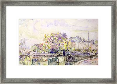Paris Framed Print by Paul Signac