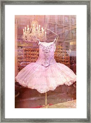 Paris Pink Ballerina Tutu - Paris Pink Ballerina Tutu Framed Print by Kathy Fornal