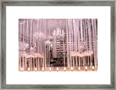 Paris Repetto Ballerina Tutu Shop - Paris Ballerina Dresses Window Display  Framed Print by Kathy Fornal
