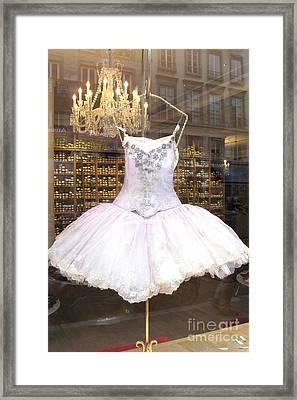Paris Repetto Ballet Shop Tutu Photo - Paris Ballerina Dress - Repetto Ballet Shop - Paris Ballerina Framed Print by Kathy Fornal