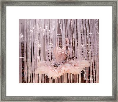Paris Repetto Pink Ballerina Tutu Dress Shop Window Display - Repetto Ballerina Pink Ballet Tutu Framed Print by Kathy Fornal
