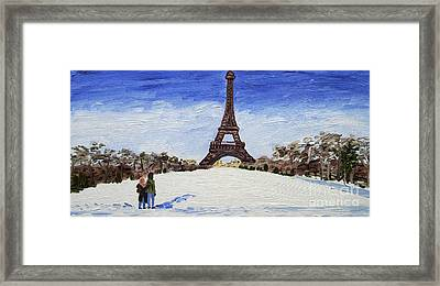 Paris Romance Framed Print by Kevin Croitz