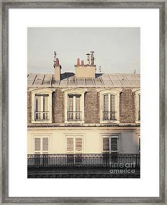 Paris Rooftop Morning Framed Print by Ivy Ho