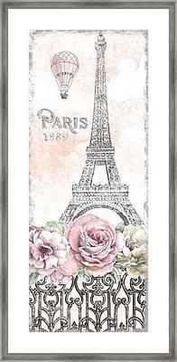 Paris Roses Panel Viii Framed Print by Beth Grove