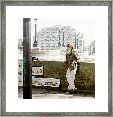Paris Street Artist Framed Print by Rebecca Cozart