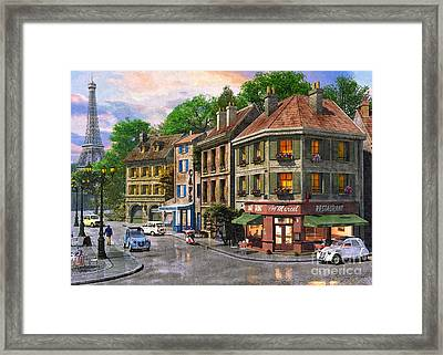 Paris Street Framed Print by Dominic Davison