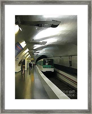 Paris Subway  Framed Print by John Malone