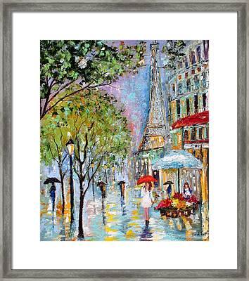 Paris Twilight Framed Print by Karen Tarlton