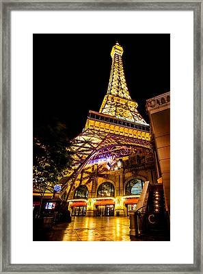 Paris Under The Tower Framed Print by Az Jackson