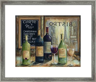 Paris Wine Tasting Framed Print by Marilyn Dunlap