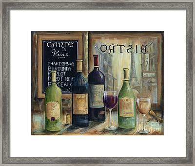 Paris Wine Tasting Framed Print by Marilyn Dunlap