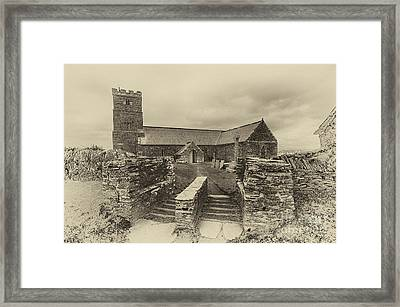Parish Church Of Saint Materiana At Tintagel Framed Print by Chris Thaxter