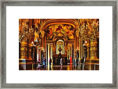 Parisian Opera House Framed Print by Georgiana Romanovna