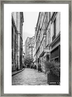 Parisian Street Framed Print by Georgia Fowler