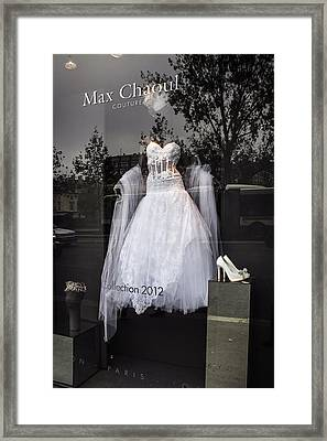 Parisian Wedding Dress Framed Print by Glenn DiPaola