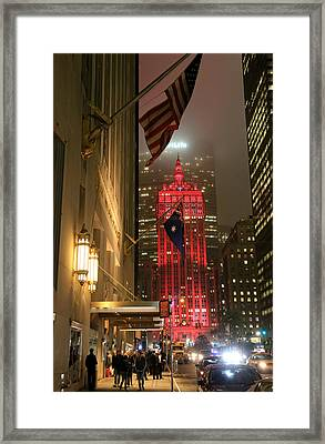 Park Avenue At Night 1 Framed Print by Andrew Fare