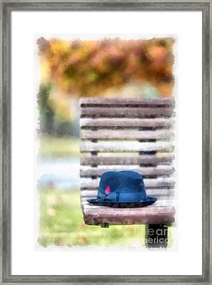 Park Bench Framed Print by Edward Fielding