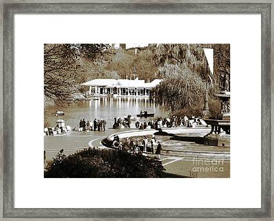 Park Day Framed Print by John Rizzuto
