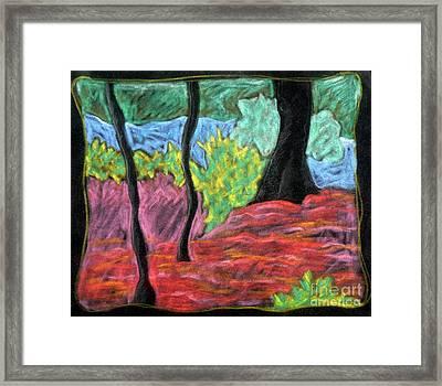 Park Landscape Framed Print by Elizabeth Fontaine-Barr