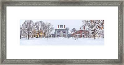 Park Row Panorama Framed Print by Benjamin Williamson