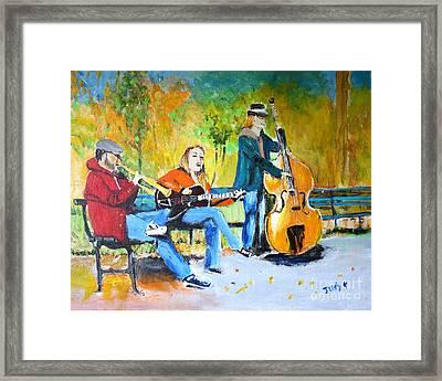 Park Serenade Framed Print by Judy Kay