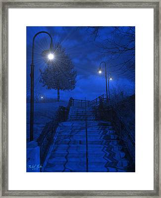 Park Stairs Framed Print by Michael Rucker
