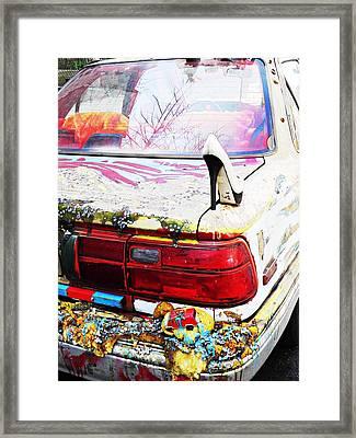 Parked On A New York Street Framed Print by Sarah Loft