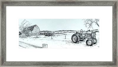 Parked Tractor  Framed Print by Scott Nelson