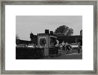 Parking Area And Ticketing Counter At The Stirling Castle Framed Print by Ashish Agarwal