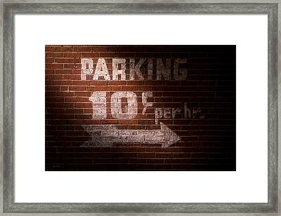 Parking Ten Cents Framed Print by Bob Orsillo