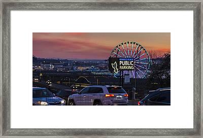 Parking Wheel Framed Print by Scott Campbell