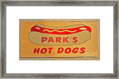 Park's Hot Dogs Framed Print by Gregory Dyer