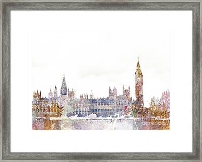 Parliament Color Splash Framed Print by Aimee Stewart